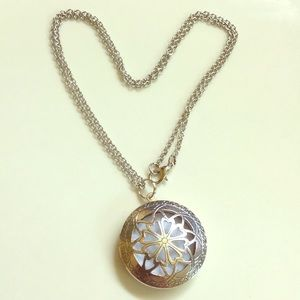 Jewelry - 2/$15 Aromatherapy diffuser silver necklace NWOT